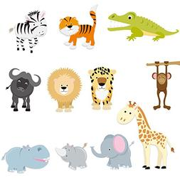 PARLAIM 0055 Kids Animal Wall Stickers,Peel and Stick Remova