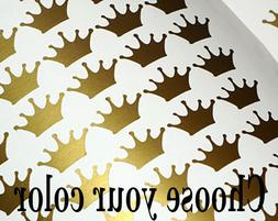 100 Gold Crown wall decal Princess Sticker Nursery Girls Roo
