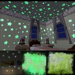 100 PCS Glow in The Dark Stars Free Removable Wall Stickers