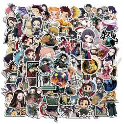 100Pcs Anime Stickers Decals for Laptop Luggage Skateboard W