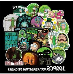 100pcs Rick and Morty themed vinyl Stickers Cute Character S