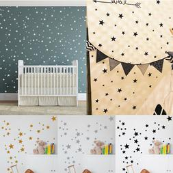 110Pcs Multi-sized Star Wall Stickers Baby Room Bedroom Deca