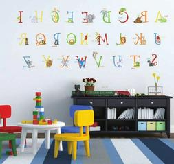129 ANIMAL ALPHABET GIANT WALL DECALS Removable and Reusable