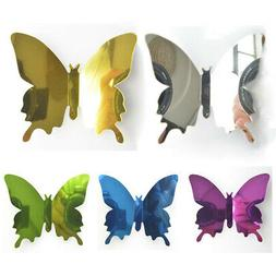 12PC 3D Mirror Butterfly Wall Stickers Children's Room Wall