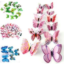 12pcs 3D Butterfly Design Decal Art Wall Stickers Room Child
