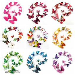 3D Butterfly Sticker Art Design Wall Decals Christmas Orname