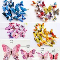 12Pcs 3D Butterfly Wall Decals Removable Sticker Wedding Nur