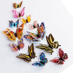 12pcs 3D Glow in The Dark Butterfly Stickers Decal Wall Deca