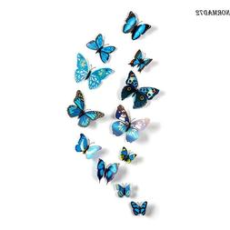 12pcs DIY 3D Butterfly Wall Decals Stickers Art Home Room De