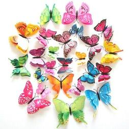 12Pcs Removable 3D Butterfly DIY Wall Stickers Art Decal Kid