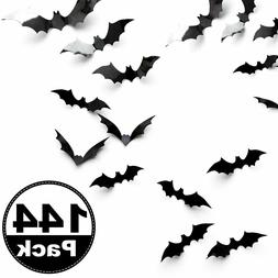 144pc 3D Bats Sticker Halloween Bat Wall Decals/Stickers/Dec