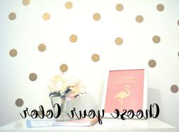 180 Polka Dots CIRCLE Gold Dot Vinyl Wall Decal Peel And Sti