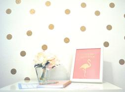 180 Polka Dots Gold Vinyl Triangle Wall Decals Circle Sticke