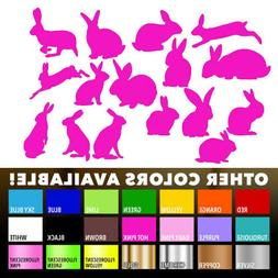 16 Rabbit stickers Nursery Decal for DIY kid play room wall