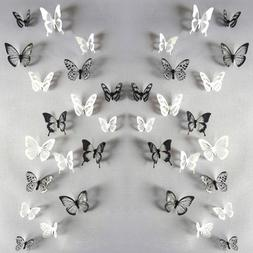 18Pc 3D Butterfly Sticker Home Decoration PVC Art Wall Decal