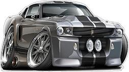"1967 Ford Mustang Shelby GT 500""Eleanor"" Large 2ft Long Wall"