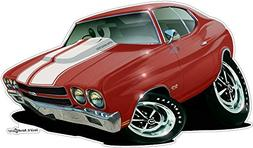 1970 Chevelle 2 WALL DECAL 2ft long Vinyl Reusable Movable F