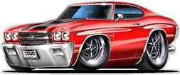 1970 Chevelle LS-6 454 M22 WALL DECAL 2ft long Reusable Peel