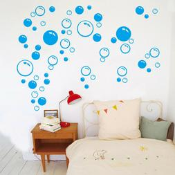 1pc bubbles wall stickers blue bathroom shower
