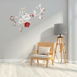 1PC Flower Mirror Non-toxic Removable Creative Wall Stickers