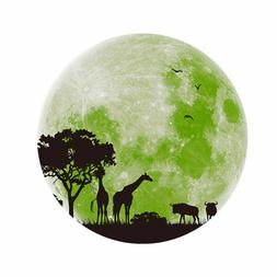 1pc Glow Wall Decals Waterproof Forest Animals Removable Wal