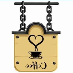 1x Coffee Cups Cafe Tea Wall Stickers Decal For Kitchen Home