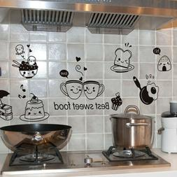 1x Cute 2 Coffee Cups Kitchen Wall Stickers Cafe Vinyl Art D