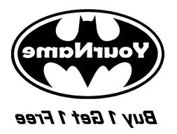 ~*~ 2 BATMAN Logo with NAME Logo Vinyl Decal for Wall Sticke
