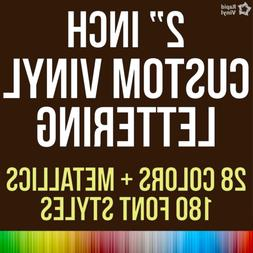 2 Inch Custom Vinyl Lettering Numbers Transfer Decal Sticker