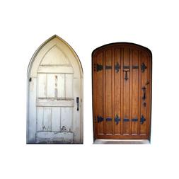 "2 Mini Fairy Doors Wall Decals - Each 4"" tall x 2.25"" wide -"