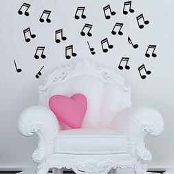 "20 Music Notes 4"" Each...Musical Note Wall Decals Music Deco"