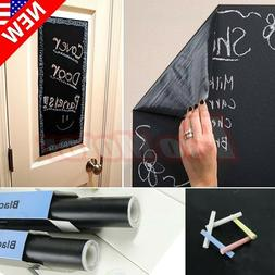 US 200X45cm Chalk Board Blackboard Removable Vinyl Wall Stic