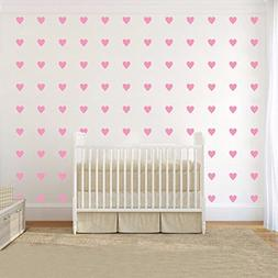 JOYRESIDE 2inchx100 Pieces DIY Heart Wall Decal Vinyl Sticke