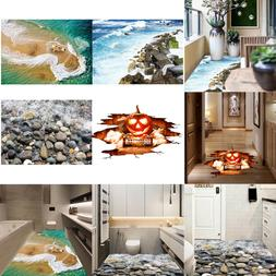 2PC 3D PVC Waterproof Floor/Wall Sticker Removable for Bathr
