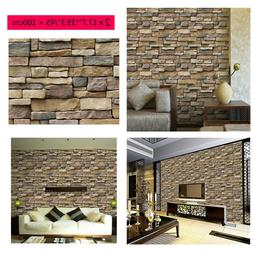 2pc3D Brick Tile Sticker Self-adhesive Wall Panel Decals Hom