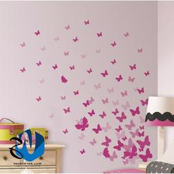 37 Mixed size Butterfly Design Wall Art Stickers Kid Decals