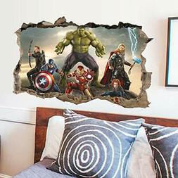 3D Avengers Endgame Wall Stickers Superheros Wall Decals Kid