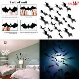 3D Bats Sticker Halloween Bat Wall Decals/Stickers/Decor Win