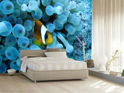 3D Blue coral Wall Paper Print Wall Decal Deco Indoor Wall M