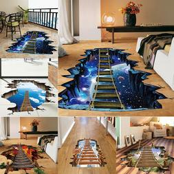 3D Bridge Floor/Wall Sticker Removable Mural Decals Vinyl Ar