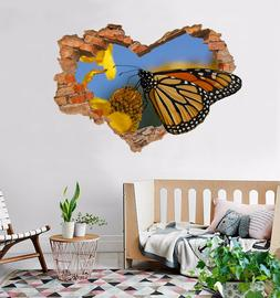3D Butterfly 088 Wall Murals Wall Stickers Decal Breakthroug