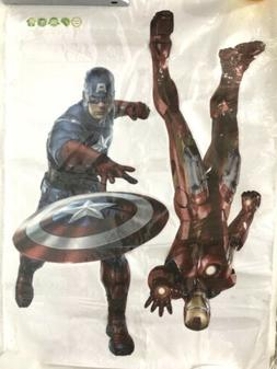 3d captain america iron man wall decals