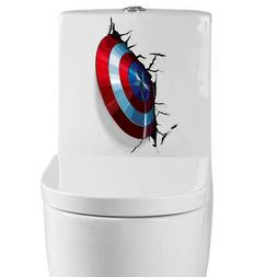 3D Captain America Shield Wall Stickers Decals Wallpaper Mur