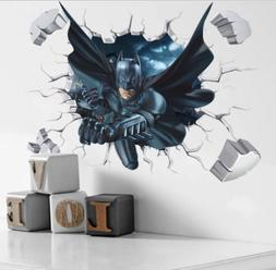 3D Cool Batman Wall Sticker For Kids Boys Room Home Decor Wa