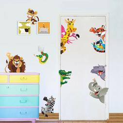 3D Decals Forest Animals wall stickers wall Mural Art Poster