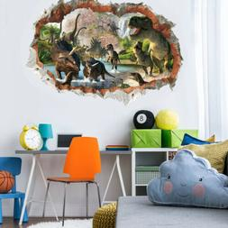 3D Dinosaur Wall Decals Jurassic World Animal Sticker Kids B
