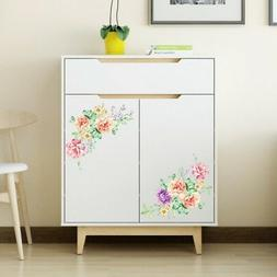 3D DIY Peony Floral Wall Stickers Vivid Wall Decals Home Toi