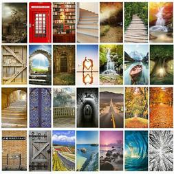 3D Door Wall Sticker Decals Mural Landscape Scenery Fabric R