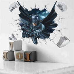 3d Effect Batman Wall Sticker For Kids Boys Rooms Home Decor