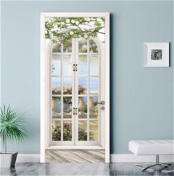 3D European Style Wall Mural Poster Door Stickers Self Adhes